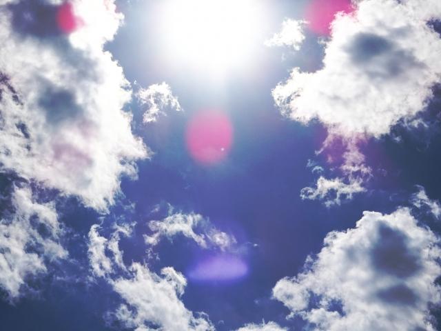 降り注がれる太陽の光